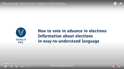 Video in plain language: How to vote in advance in the elections